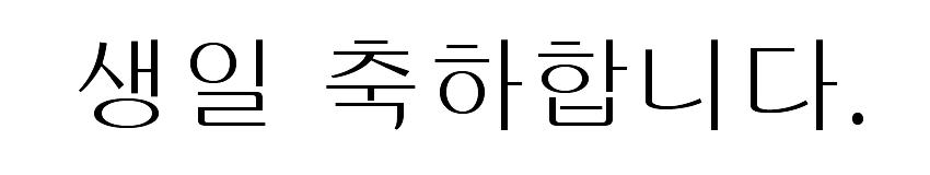 韓国語誕生日文字4